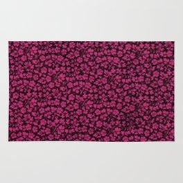 Pink Yarrow Vintage Flowers Rug
