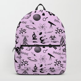 Symbols of Science // Light Pink Backpack