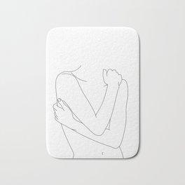 Crossed arms nude figure - Emie Bath Mat