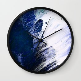 Cerulean Drop Wall Clock