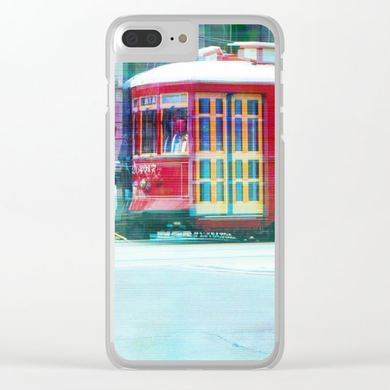 Streetcar on Canal Street Clear iPhone Case
