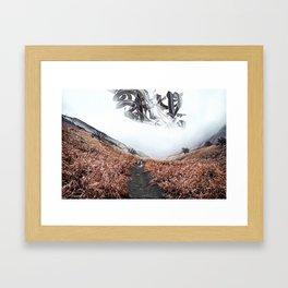 Precursors: a mystery fantasy landscape Framed Art Print
