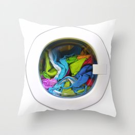 washing machine Throw Pillow