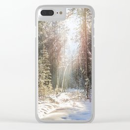 Sunny winter day Clear iPhone Case