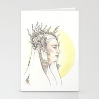 thranduil Stationery Cards featuring Thranduil by Mary Ledford