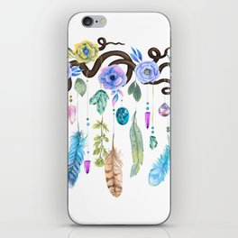 Wild Wood Roses And Twisted Branches Spirit Gazer iPhone Skin