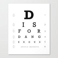 D is for Dangerous (White) Canvas Print