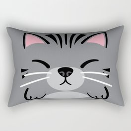 Grey Tabby Rectangular Pillow