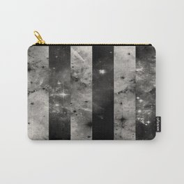 Stripes In Space - Black and white panel effect space scene Carry-All Pouch