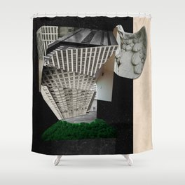 The Tower: Babel in Space Shower Curtain