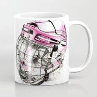 hockey Mugs featuring Hockey mandrill  by Detullio Pasquale