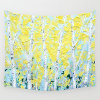england Wall Tapestries featuring New England Paper Birch by Ann Marie Coolick