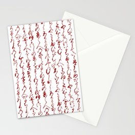 Ancient Japanese Calligraphy // Dark Red Stationery Cards