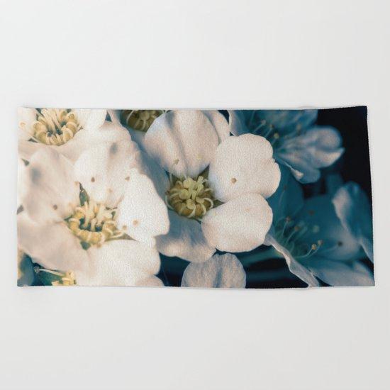 Bridal wreath flowers Beach Towel