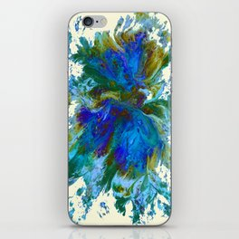Butterflies are free in teal, blue, green and cream iPhone Skin