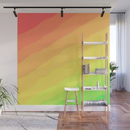 Happy Colorful Rainbow Stripes Wall Mural