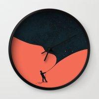 budi Wall Clocks featuring Night fills up the sky by Picomodi