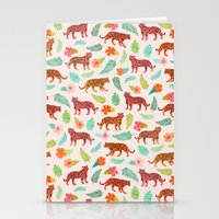 tigers Stationery Cards featuring Tigers by Abby Galloway
