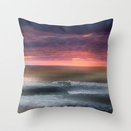 The Tide Rises ~ The Tide Falls ~ Sunset Clouds Throw Pillow