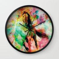 storm Wall Clocks featuring Storm by RIZA PEKER