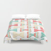bows Duvet Covers featuring bows by melazerg