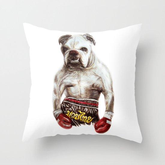 killer dog Throw Pillow