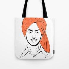 Bhagat Singh #IpledgeOrange Tote Bag
