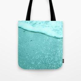 Sparkling Aqua Beach Tote Bag