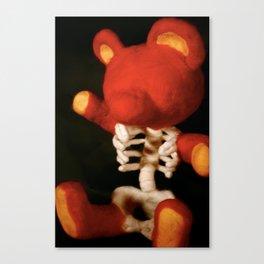 Teddy Bare Bones Canvas Print