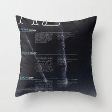BAKANE FONT Throw Pillow