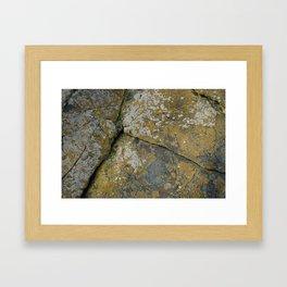 Ancient Rocks with Lichen Texture Framed Art Print