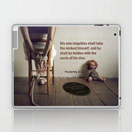 Proverbs 5:22 Laptop & iPad Skin