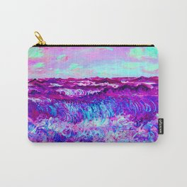 Monet Marine Pourville in Pink and Purple Carry-All Pouch