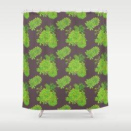 Succulent Pattern Shower Curtain