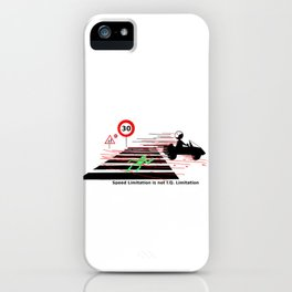 Road safety IQ speed limitation iPhone Case
