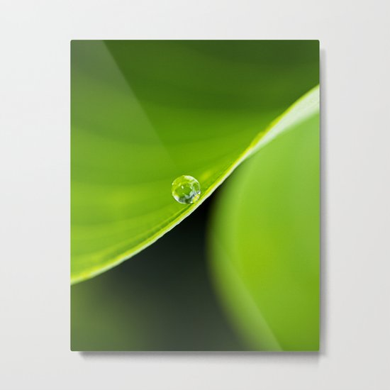 a curve, a drop Metal Print