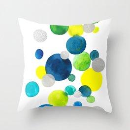 Flying bubbles/ bulles volantes Throw Pillow