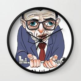 Jean-Paul Sartre Wall Clock