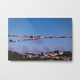 Little Boxes Off the Hillside Metal Print