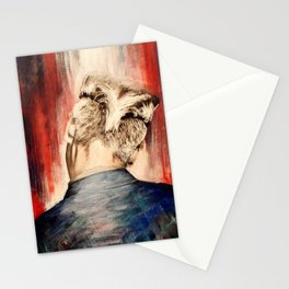 shadow at evening rising Stationery Cards