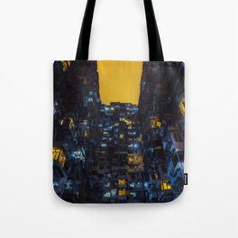 Ghost In The Shell Vibes / Liam Wong / Hong Kong Cyberpunk Tote Bag