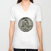leslie knope V-neck T-shirts featuring Leslie Knope  |  Susan B. Anthony Coin  |  Parks and Recreation by Silvio Ledbetter