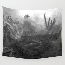 War Torn City V2 Wall Tapestry