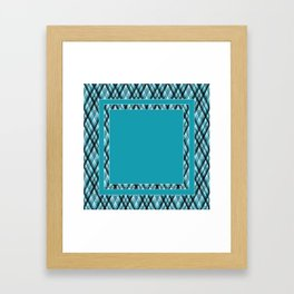 Blue, white ,black ,tartan Framed Art Print