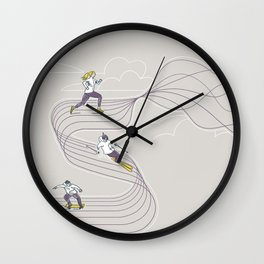 The Wave We Are On Wall Clock