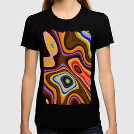 Colourful fluid abstract T-shirt