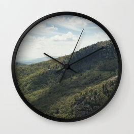 blue ridge parkway Wall Clock