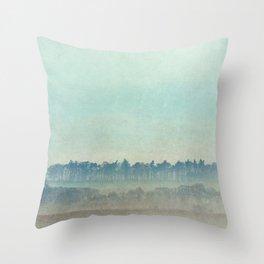 Teal Trees Throw Pillow