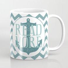 Read More + Teal Anchor Mug