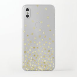 STARS GOLD Clear iPhone Case